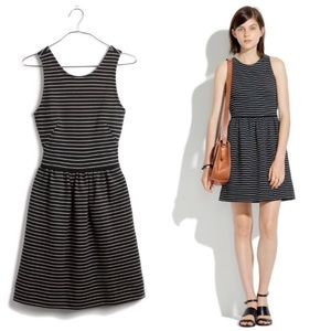Madewell Pierside Black White Striped Dress